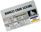 Tarjeta Empresarial de Banco Caja Social
