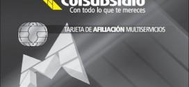 Tarjeta Afiliación Multiservicios Colsubsidio
