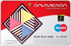 Tarjeta de debito TransMilenio Davivienda
