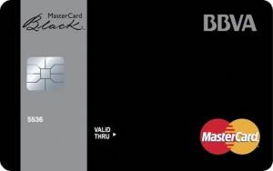 Tarjeta MasterCard Black de BBVA
