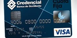 Tarjeta Credencial Visa Cuota Fija del Banco de Occidente