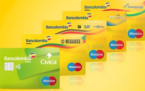 Tarjetas Bancolombia