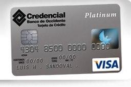 Tarjeta Credencial Visa Platinum del Banco de Occidente