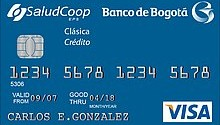 Tarjeta de credito Clasica SaludCoop