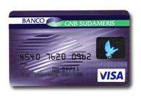 Tarjeta Clásica de Uso Nacional del Banco GNB Sudameris