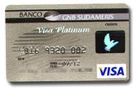 Tarjeta Platinum del Banco GNB Sudameris